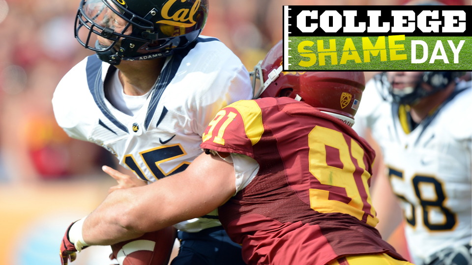 Click here to read College ShameDay: Who Embarrassed Themselves On Saturday (Besides Cal's Quarterback)?