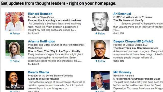 Click here to read Follow Industry Leaders and Influential People on LinkedIn