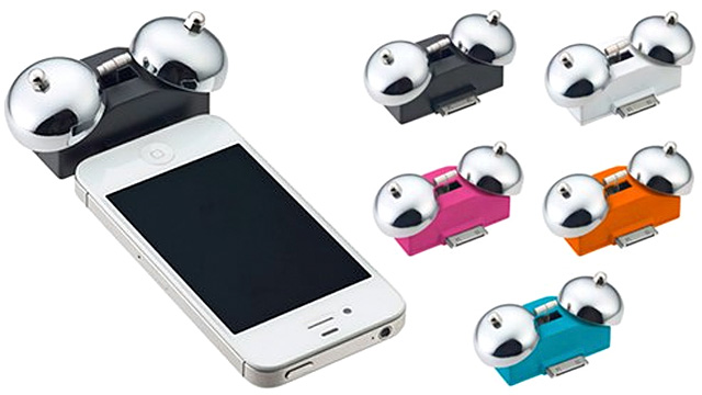 Click here to read Old-Fashioned Bell Accessory Guarantees You'll Never Sleep Through Your iPhone's Alarm