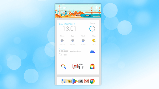 The Google Now Home Screen