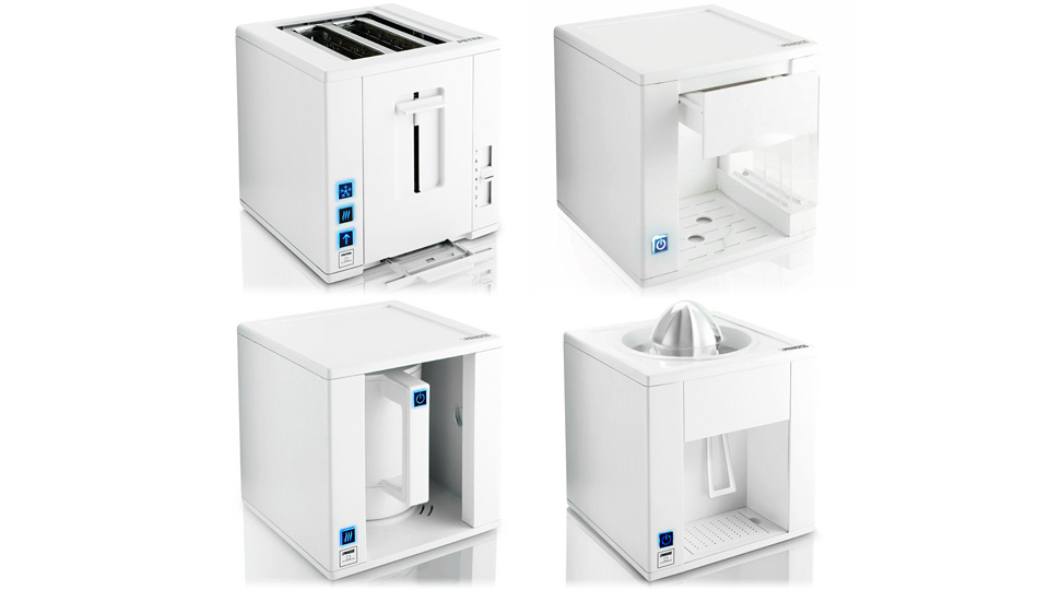 Superbe Space Saving Kitchen Appliance Cubes Fit Together Like Lego