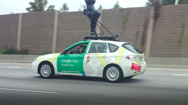 This Google Street View driver didn't flip a photographer the bird