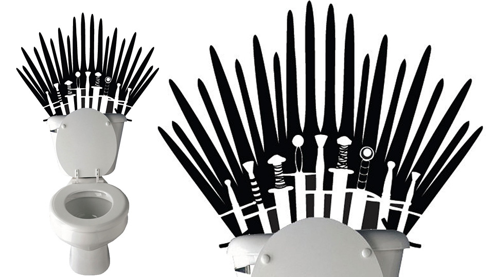 Game Of Thrones Wall Decal Makes Your Toilet Fit For A King Of