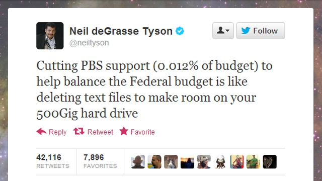 Neil deGrasse Tyson Wrote the Only Thing You Need to Read About Mitt Romney's Vow to Cut Funding for PBS