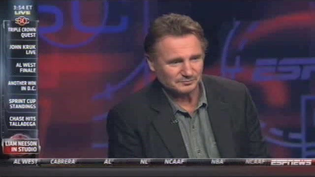 """Are We Live? Oh Shit."" Liam Neeson Appears On Sports…"