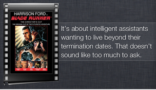 Siri's deranged synopses of science fiction films prove that she'll be no help when the Singularity hits