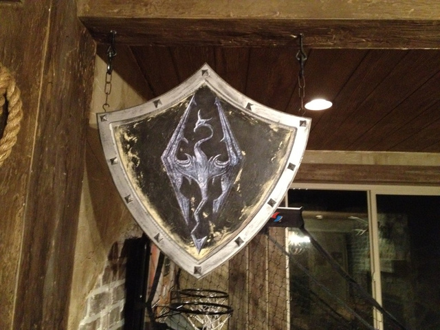 This Comic Book Artist's Skyrim-Themed Basement Is Straight Out of Tamriel