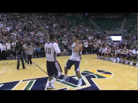 The Utah Jazz Had A Rookie Dance Off And 7-Foot Non-Rookie Enes…