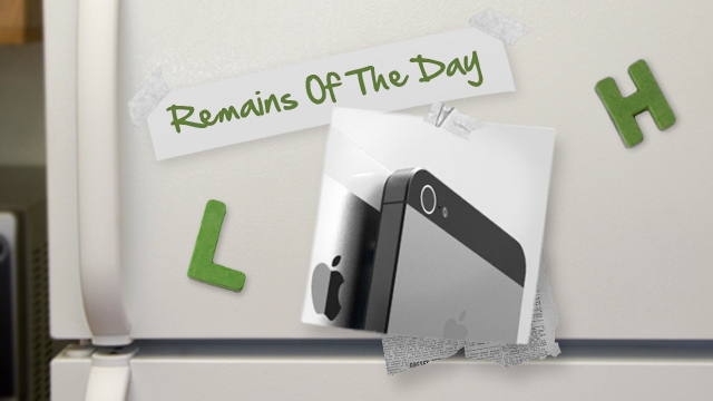 Click here to read Remains of the Day: Apple Addresses iPhone 5 Camera Problems