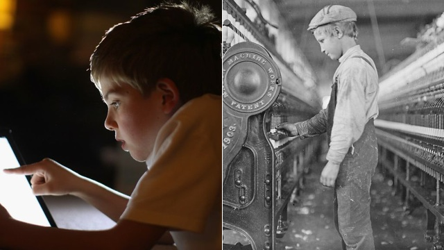 How Kids Using Machines Today Compare With Kids Using Machines 100 Years Ago