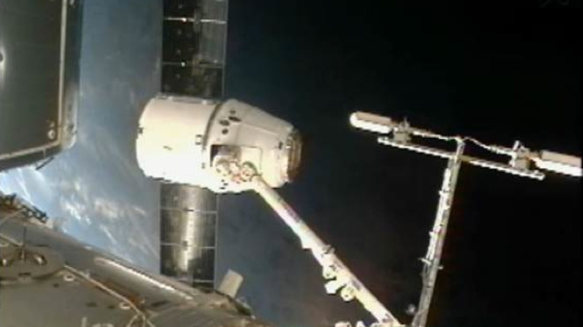 SpaceX has completed its first commercial cargo delivery to the ISS