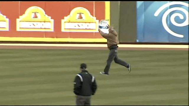 Romney Supporter Who Ran Onto The Field Before Last Night's NLD…