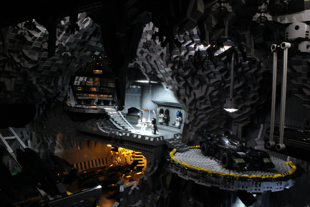 This Batcave made of 20,000 LEGO bricks is fit for Bruce Wayne