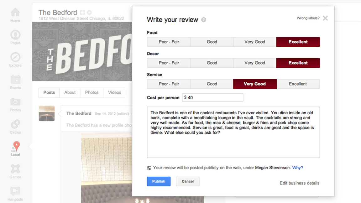 Click here to read Zagat Ratings Are Too Confusing for Google Users