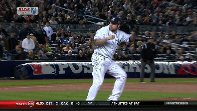 Joba Chamberlain Left Tonight's Game After Getting Nailed By A …