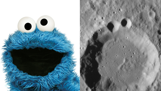 "NASA on Mercury's Craters: ""Anyone Else Think This Looks Like the Cookie Monster?"""