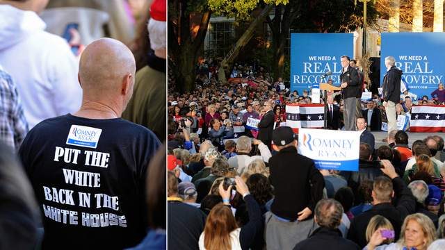 Ohio Man at Romney Rally Has Terrible, Racist Taste in Shirts
