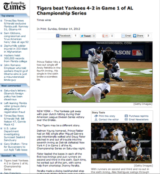 Raul Ibanez Comes Through With A Game-Tying Home Run To Send Game One Of The ALCS Into Extra Innings