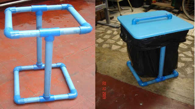 Build a PVC Trashbag Holder
