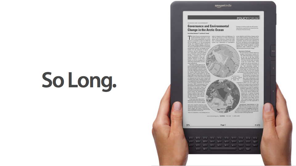 Click here to read Amazon Quietly Discontinuing the Kindle DX