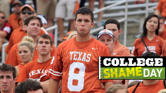 College ShameDay: Who Embarrassed Themselves On Saturday (Besides Texas)?