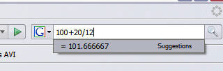 Firefox  2 Tip:  Instant calculator