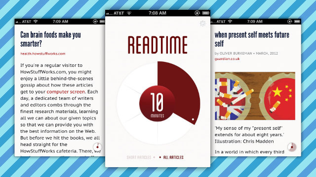 Readtime Queues Up Stories to Read Based On How Much Time You Have