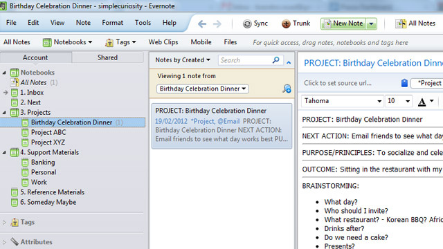Get things done with evernote using gtd templates for How to create a template in evernote