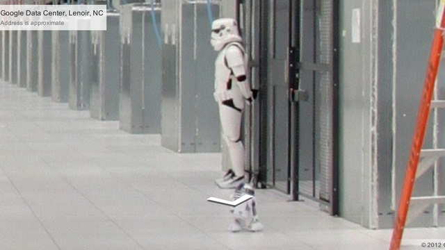 Look at This Imperial Stormtrooper at Google's Data Center