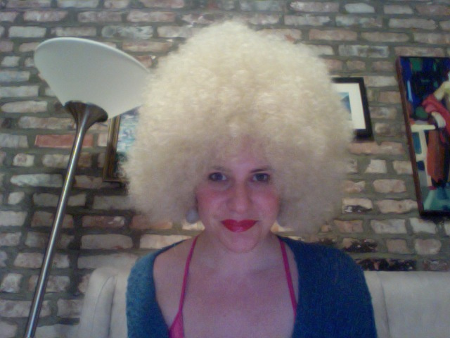 Local New York City White Lady Wears Afro Wig, Takes Photos with Black People, Becomes Enlightened (UPDATE)