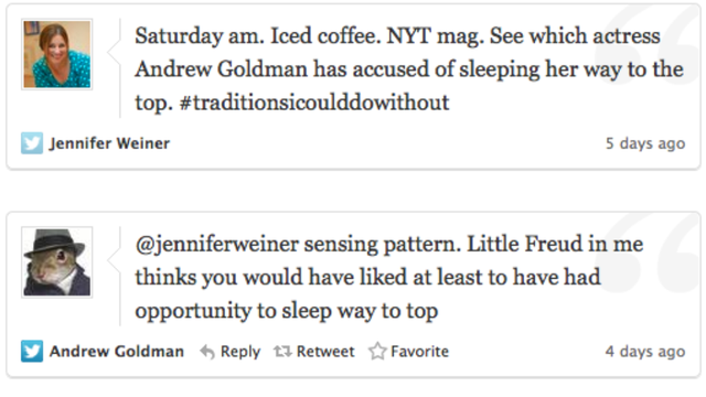 New York Times's Andrew Goldman Temporarily Suspended for Sexist Comments