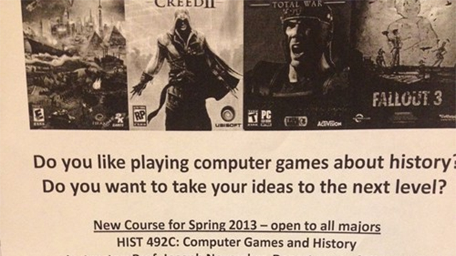 Click here to read A College History Class About Video Games? Sign Me Up.