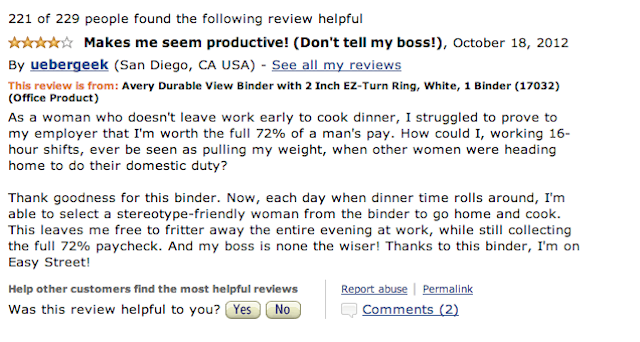'Too Small for Women': Amazon Flooded With Hilarious Reviews of Binders in Wake of Debate