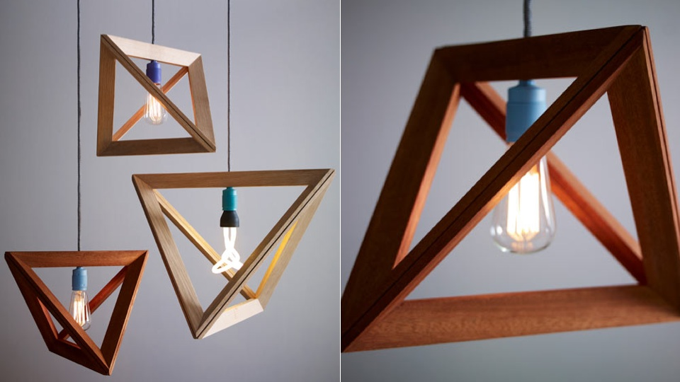 lighting frames. light bulbs are showcased like photos in these geometric frames lighting e