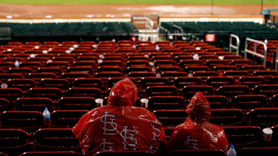 Last Night's Rain Delay Was Called One Out Before The Cardinals…