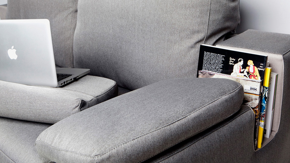 Removable Armrest Lapdesks Make This Sofa The Ideal Home Office