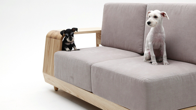 This Sofa With Attached Dog House Is One Perfect Idea