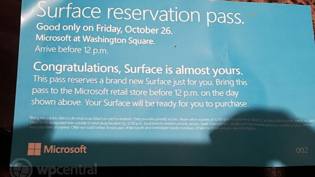 Microsoft Is Taking Surface Pre-Orders in Official Stores