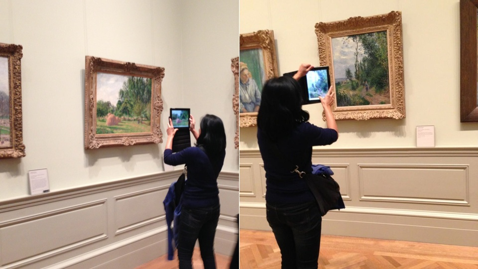 Click here to read A Woman at a Famous Art Museum, Taking a Museum's Worth of iPad Photos