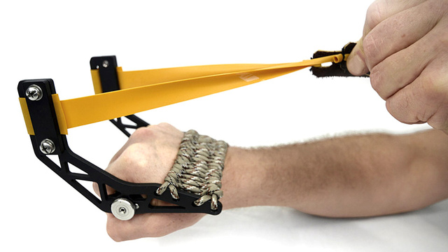 A Grown-Up Slingshot For the Mischievous Little Kid in Us All