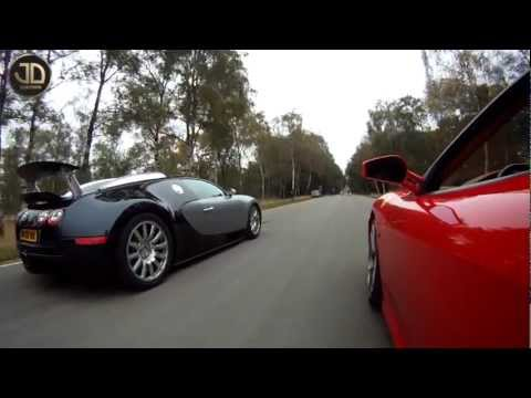 Click here to read A Ferrari F430, A Bugatti Veyron, And A Closed Road