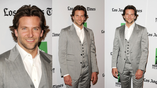 Luscious Locks, Pretty Frocks and Bradley Cooper's Shiny Suit: the Hollywood Film Awards Gala