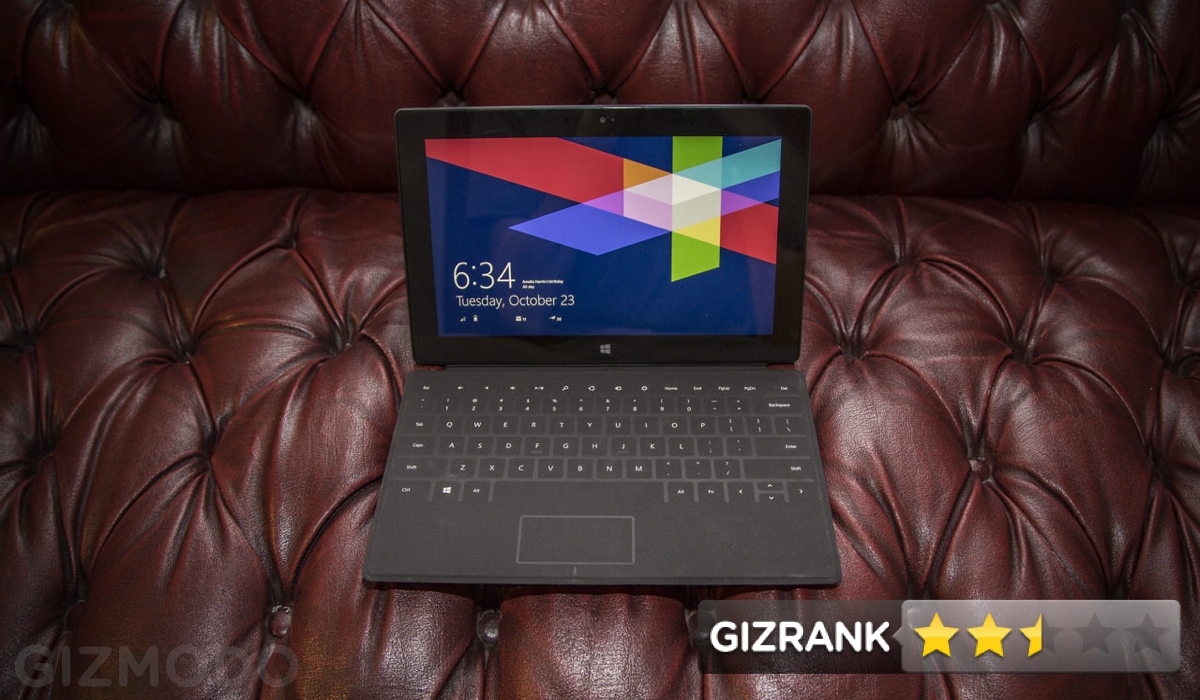 Click here to read Microsoft Surface RT Review: This Is Technological Heartbreak