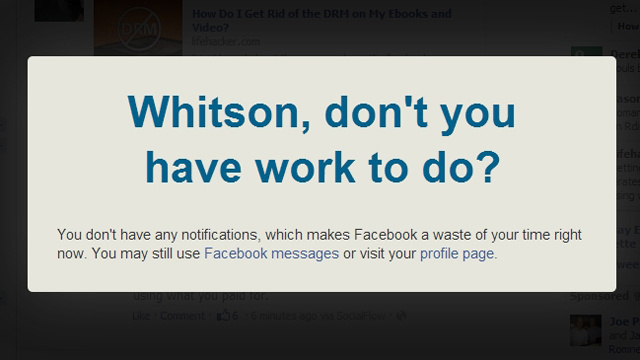 Facebook Nanny Blocks You From Visiting Facebook Unless You Have Notifications