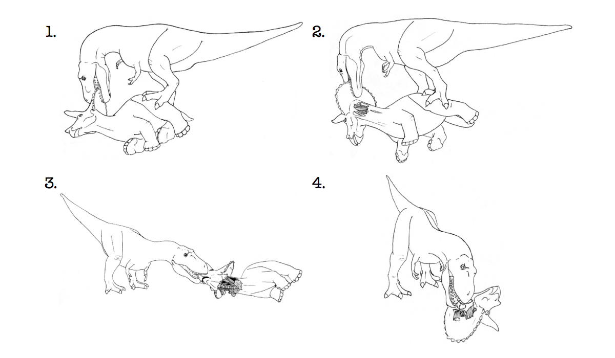 Click here to read How T. Rex Ate a Triceratops in Four Easy Steps