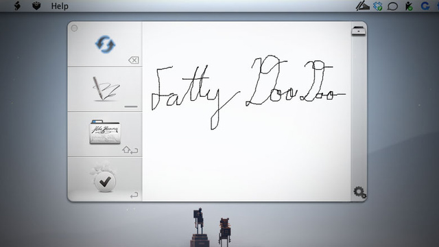 Signature Signs PDFs via Your Multitouch Trackpad and Stores Them for Later Use