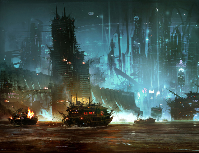 An Exclusive Look at the Stunning Concept Art Behind Cloud Atlas' Future Seoul