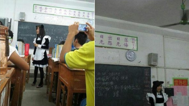 Teacher Dresses Up as a Maid to Reward Her Students