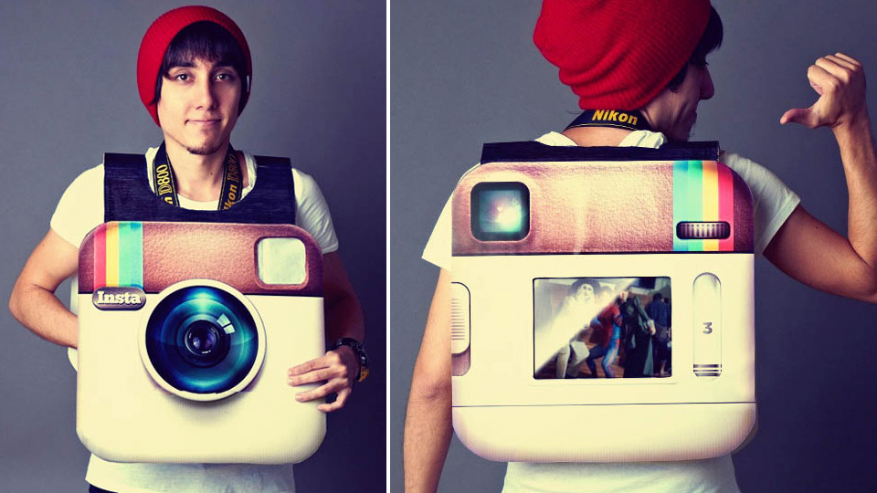 Click here to read Giant Working Instagram Camera Is This Year's Costume To Beat