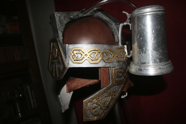 Gimli-inspired beer helmet lets you binge drink like a Dwarf